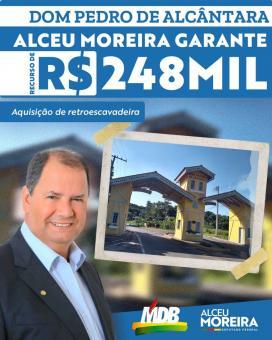 Prefeitura comprará retroescavadeira através de emenda parlamentar do Deputado Federal Alceu Moreira