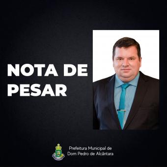 NOTA DE PESAR PELO FALECIMENTO DO VEREADOR RODINELI JUSTO SCHWANCK (NELINHO)