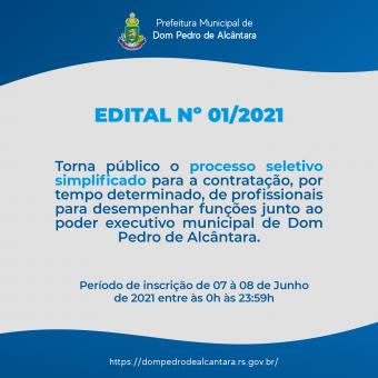 Processo Seletivo 001/2021